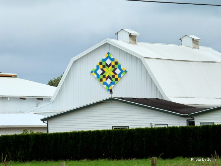 Tillamook Barn Quilt Intense White Colored Barn