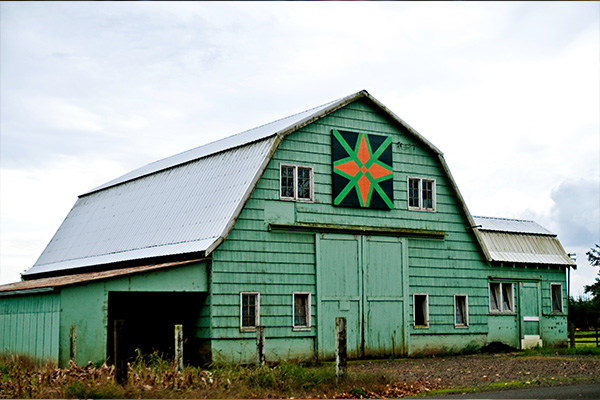 Tillamook Barn Quilt Trail Green Barn